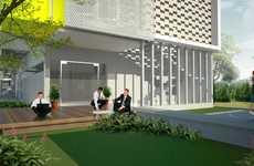 Optimally Ventilated Workspaces - The Breathing Office by Creative Inc. Maximizes Natural Air Flow