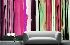 Colorful Melting Home Decor - The Watercolor Wallpaper Designs Offer a Variety of Lovely Shades