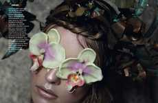 Fresh Floral Editorials - The 'Super Natural' Julia Frauche Photoshoot is Full of Botanical Life