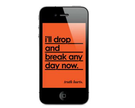 Irreverently Wise Wallpapers - The 'Truth Hurts' Nico Ordozgoiti Series Tests Attachment to iPhones