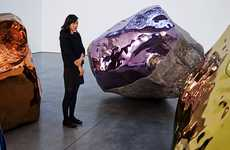 Metallic Stone Sculptures - The Untitled Series by Jim Hodges Features Reflective Boulders