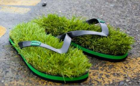 Fetching Grassy Footwear - Yashin Kusa Shoes Let You Feel Lush Blades Between Your Toes