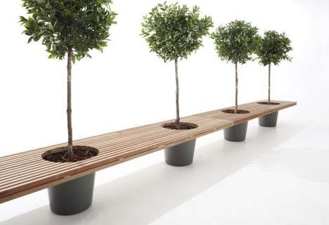 Planter-Supported Seating