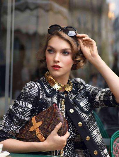 Carefree Parisian Styles - Arizona Muse Looks Lovely & Chic in Louis Vuitton Cruise 2012 Catalog