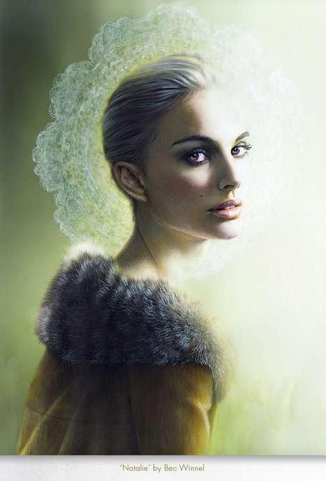 Angelic Digital Damsel Portraits