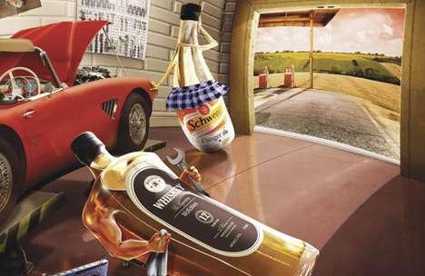 Coquettish Beverage Campaigns