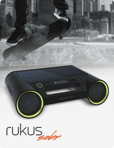 Lightweight Sun-Charging Speakers