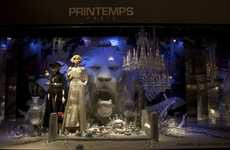 Celebrity Marionette Installations  - The Printemps Haussmann Christmas Windows are Enticing