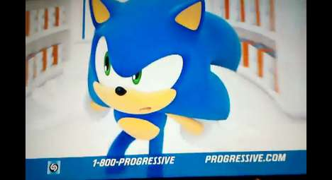 Insurance-Selling Cartoon Characters - The Latest Progressive Ad Features Sonic the Hedgehog