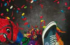 Pinata-Smashing Sneaker Ads - The 'Energie Nice Kicks' Campaign is Vibrantly Destructive
