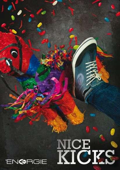 Pinata-Smashing Sneaker Ads