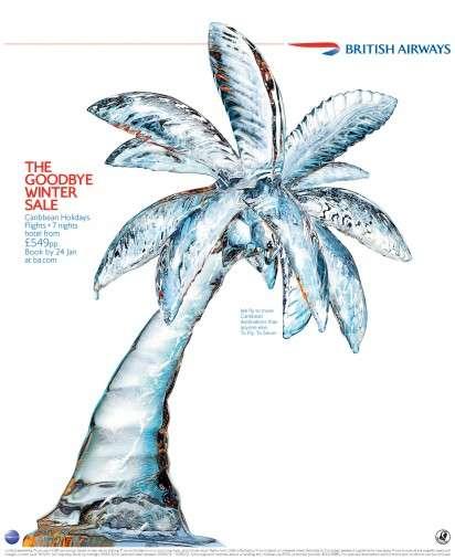 Icy Palm Tree Ads
