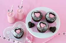 Sweet Heartfelt Treats - These Maraschino Cherry Cupcakes Sport a Cute Heart Cutout