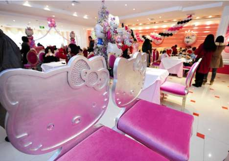 Cartoon Cat Cuisine - The Hello Kitty Dreams Restaurant Opens in Beijing
