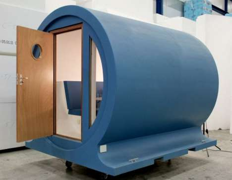 Cylindrical Pop-Up Homes - 'The Tube' Provides Compact Living Quarters in the Great Outd