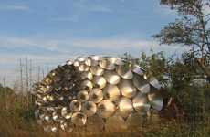 Giant Disco Ball Structures - The Shadow Pavilion Design Uses Over 100 Pieces of Aluminum