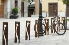 Handy Cycle Stands - The Tactil Bicycle Rack Gives a Friendly Wave to Local Cyclists