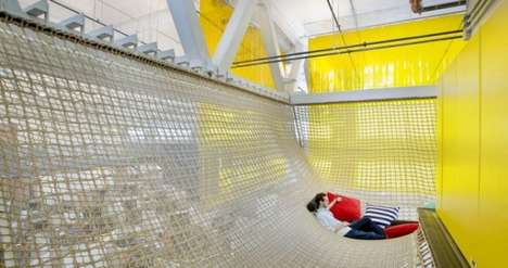 Corporate Hammock Hangouts - Google Pittsburgh Office Provides Workers with a Net-Like Resting Area