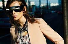 Chic Shaded Photo Shoots - The Monika Sawicka for Vogue Germany Shoot is Grunge-Glam