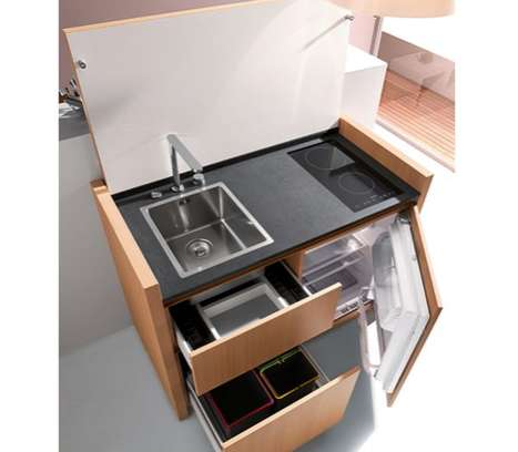 Compact Culinary Workspaces - The Kitchoo K1 is a Pint-Sized Cooking Station