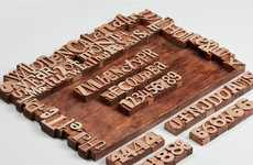 Timber Date Trackers - The Wooden Letterpress Calendar by Pavel Emelyanov Has No Year