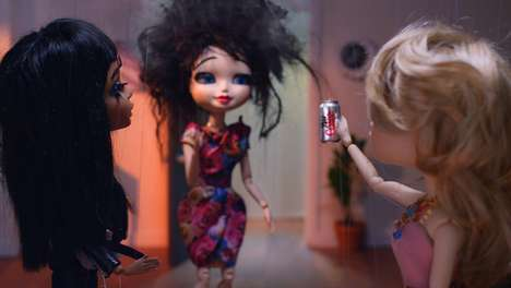 Glamorous Puppet Drink Ads