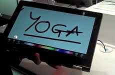 Classy Convertible Laptops - Lenovo's 'IdeaPad Yoga' Tablet is Unveiled at CES 2012