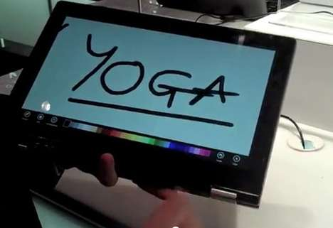Lenovo's 'IdeaPad Yoga' Tablet is Unveiled at CES 2012