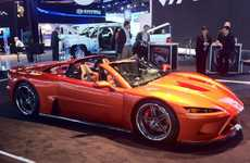 Carbon Fiber Supercars (UPDATE) - America's Falcon F7 Supercar Launches at NAIAS 2012
