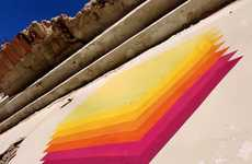 Trippy Triangular Graffiti - E1000 Adds Colors and Art to Spanish Balconies