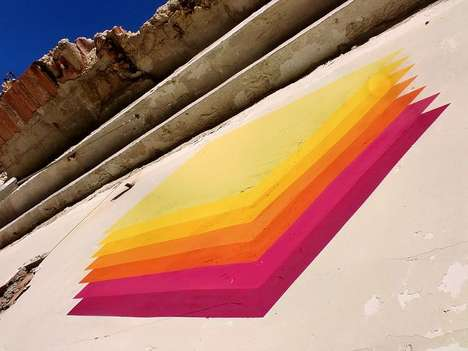 Trippy Triangular Graffiti