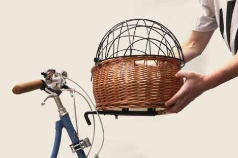 Quaint European Bike Baskets