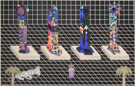Surreal Geometric Scenes