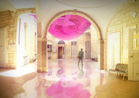 Fluid Fuchsia Installations