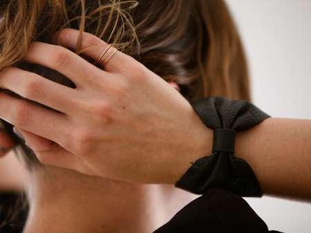 Leather Bow Bracelets