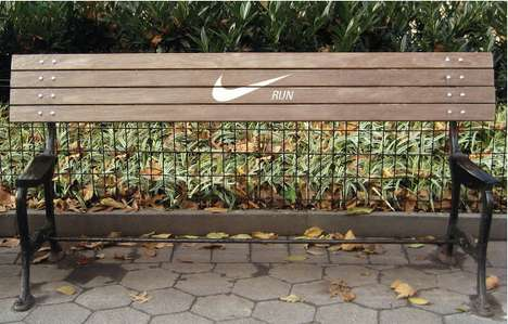 Seatless Pro-Fitness Perches - The Motivational Nike Bench is Poignant Enough to Keep You Running