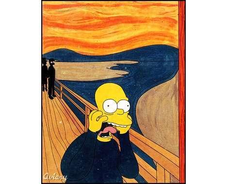 12 Artistic Simpsons Tributes