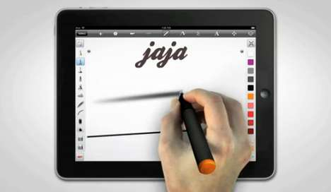 Pressure-Sensitive Tablet Pens - Jaja is an Entire Electronic Pencil Case in One Cord-Free Implement