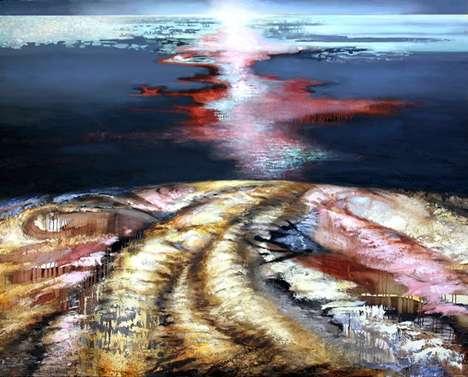 Radiant Multi-Layered Paintings