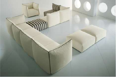 Bolster-Bordered Seating