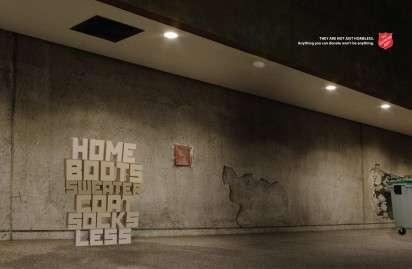 Typographic Homeless Ads