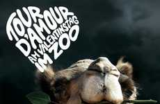 Romantic Wildlife Park Ads - The Kolner Zoo Tour D'Amour Campaign Will Entice Cute Couples