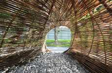 Weaved Bamboo Installations