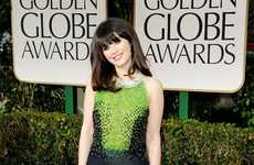 Regal Jewel-Toned Gowns - The 2012 Golden Globes Red Carpet was Packed with Jewel-Toned Style