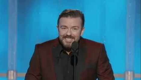 Ricky Gervais' Golden Globes 2012 Performance was Intense