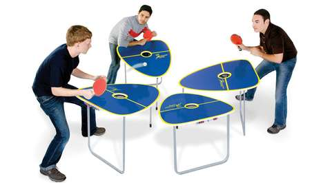 Quartet Ping Pong Counters - Quad Table Tennis Game Gives the Classic a Crazy Twist
