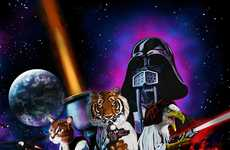 Wildlife Sci-Fi Posters - 'Animal Wars' Cast Beastly Creatures as Star Wars Heroes
