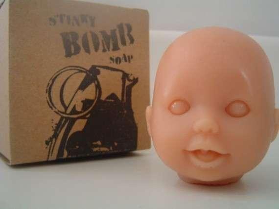 Pixie Creepy cute Doll Head Upcycled