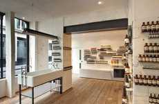 Enameled Beauty Boutiques - Aesop Soho Store by Cigue Features Simple Minimalist Atmosphere