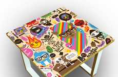 Sunny Graffiti Furniture - Jthree Concepts Pairs With Post Living to Create Badass Bedside Tables